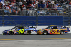 Jimmie Johnson, Hendrick Motorsports Chevrolet, and Michael Waltrip, Michael Waltrip Racing Toyota