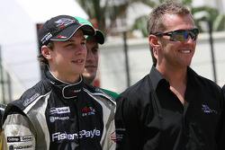 Earl Bamber, driver of A1 Team New Zealand and Chris Van Der Drift, driver of A1 Team New Zealand