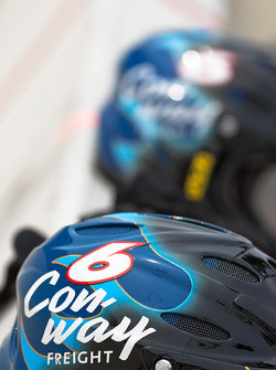 Colin Braun's #6 Conway Freight Ford pit area