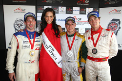 Race winner Neel Jani, second place Felipe Guimaraes, third place Clivio Piccione