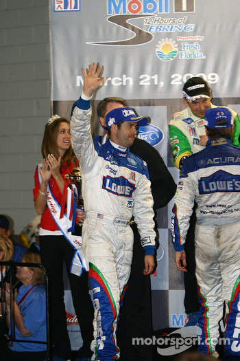 P2 podium: class winners Adrian Fernandez and Luis Diaz