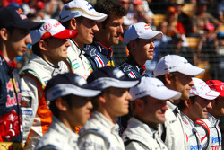 Sebastian Vettel, Red Bull Racing at the Drivers group picture