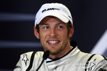 Post-race press conference: race winner Jenson Button, Brawn GP
