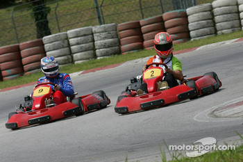 F1 Fun Kart Challenge: Vitantonio Liuzzi, Force India and Edoardo Mortara