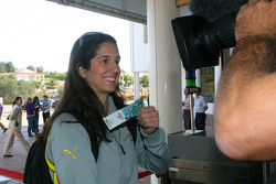 Visit at Zoomarine: Ana Beatriz, driver of A1Team Brazil