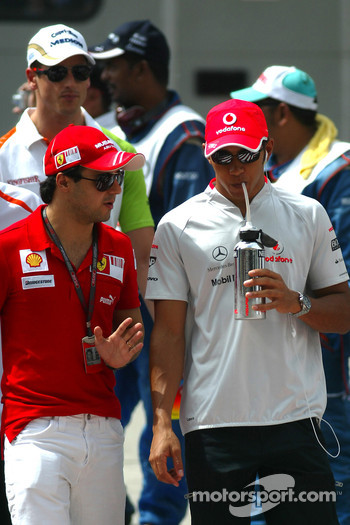 Felipe Massa and Lewis Hamilton