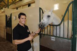 Randy De Puniet, LCR Honda MotoGP, visits a Qatari ranch
