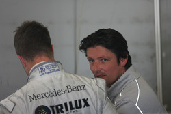 Ralf Schumacher, Team HWA AMG Mercedes C-Klasse and Axel Randolph, HWA Mercedes, race engineer
