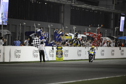 Valentino Rossi, Fiat Yamaha Team takes the checkered flag for the second place