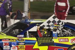 Race winner Mark Martin, Hendrick Motorsports Chevrolet, celebrates