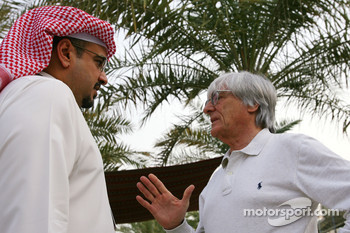 Abdulla bin Isa Al Khalifa and Bernie Ecclestone