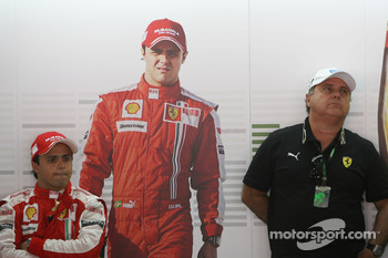 Felipe Massa, Scuderia Ferrari and his father Luis Antonio Massa