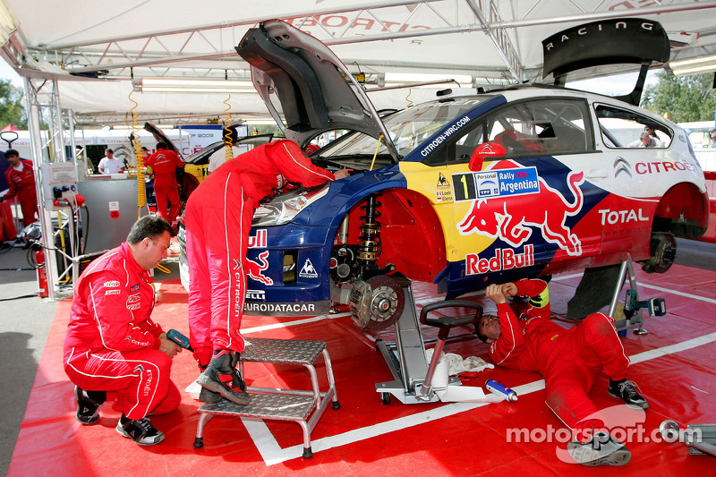 Citroen Total World Rally Team service area