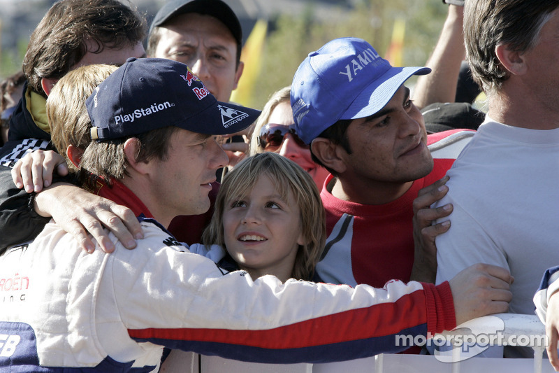 Sébastien Loeb with fans
