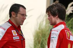 Stefano Domenicali, Scuderia Ferrari, Sporting Director, Rob Smedly, Scuderia Ferrari, Track Engineer of Felipe Massa