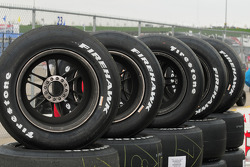 Stacks of Firestone Firehawks