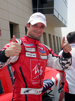Race winner Vitantonio Liuzzi UP Team in parc ferme