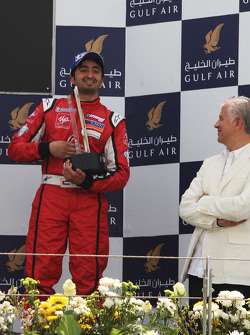 Hasher Al Maktoum UP Team celebrates his third position on the podium