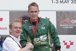 Jonathan Palmer and Adam Carroll, driver of A1 Team Ireland