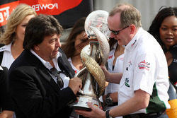 Tony Teixeira, A1GP Chairman and Mark Gallagher of A1 Team Ireland, wins the world cup of motorsport