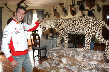 Alex De Angelis, San Carlo Honda Gresini, visits a ranch in Southern Spain