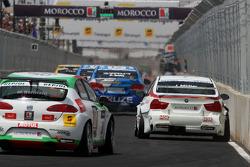 Jorg Muller,  BMW Team Germany, BMW 320si and Mehdi Bennani, Exagon Engineering, Seat Leon 2.0