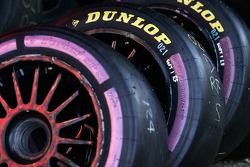 The new Dunlop super soft compound tyre being used for the first time at Winton
