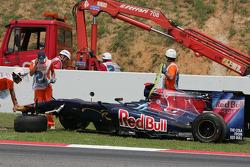 Sebastien Buemi, Scuderia Toro Rosso crash