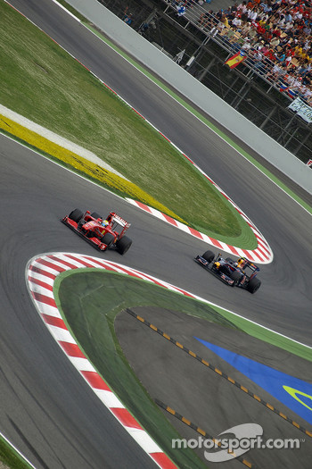 Felipe Massa, Scuderia Ferrari, Sebastian Vettel, Red Bull Racing