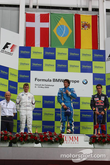 Podium, Peter Sauber, BMW Sauber F1 Team, Team Advisor, Michael Christensen, Muecke Motorsport, Luiz Felipe Nasr, Eurointernational and Daniel Juncadella, Eurointernational