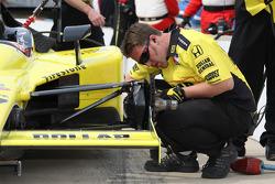 Sarah Fisher Racing team member at work