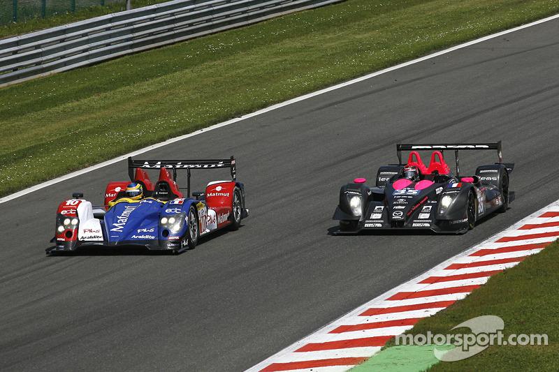 #10 Team Oreca Matmut - AIM Courage-Oreca LC70 - AIM: Stéphane Ortelli, Bruno Senna; #35 Oak Racing Pescarolo - Mazda: Matthieu Lahaye, Karim Ajlani