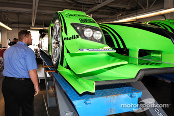 Technical inspection for the #9 Patron Highcroft Racing Acura ARX-02a Acura