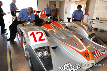 Technical inspection for the #12 Autocon Motorsports Lola B06/10 AER