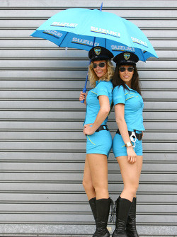 The lovely Rizla Suzuki MotoGP girls
