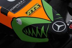 Nose of Sam Bird, Mücke Motorsport, Dallara F308 Mercedes