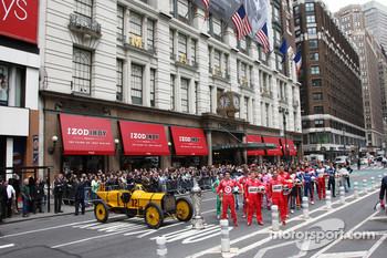 The 2009 Indy 500 field visits Herald Square and Macy's In New York City