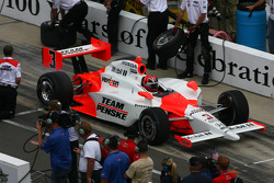 Helio Castroneves during the pit stop challenge