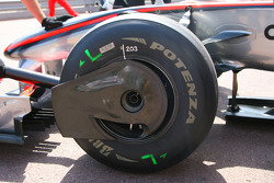 McLaren Mercedes, wheel detail