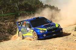 Pierlorenzo Zanchi and Dario D'Esposito, Subaru Impreza WRC