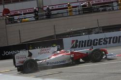 Timo Glock, Toyota F1 Team makes a mistake