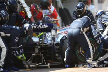 Nico Rosberg, Williams F1 Team pit stop