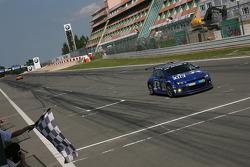 Checkered flag: #116 Volkswagen Motorsport Volkswagen Scirocco GT24: Altfrid Heger, Carlo van Dam, Congfu Cheng, Franck Mailleux