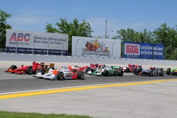 Start: Ryan Brisco leads the field to the green flag