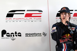 Mirko Bortolotti in the post qualifying press conference for race two