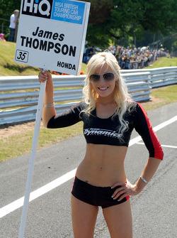 James Thompson's grid girl