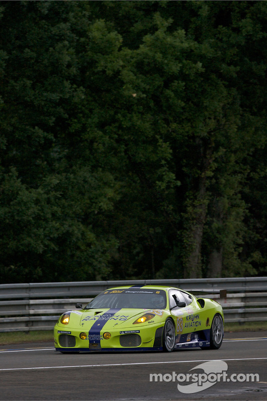 #83 Risi Competizione Ferrari F430 GT: Tracy Krohn, Nic Jonsson, Eric van de Poele