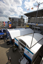 Team Peugeot Total and Pescarolo Sport paddock area
