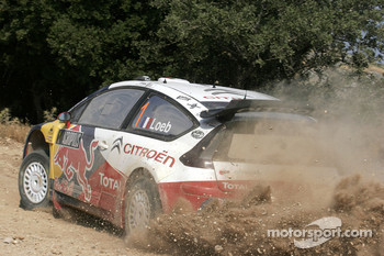 Sébastien Loeb and Daniel Elena, Citroen C4, Citroen Total World Rally Team