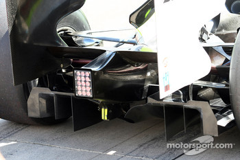 Rear diffuser of the Brawn GP car